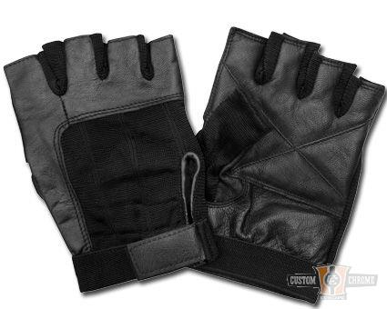 Gants mitaines AL02 Cuir Gloves Black