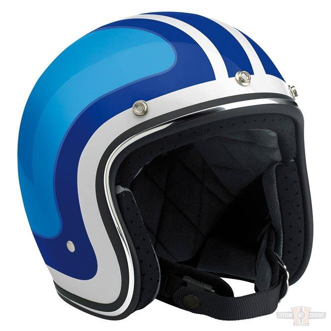 Casque Biltwell Bonanza Limited Edition Fury Gloss White/Blue/Lt. Blue