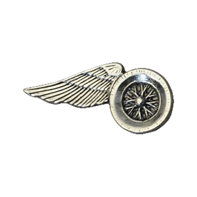 LARGE WING WHEEL MOTORCYCLE PINS