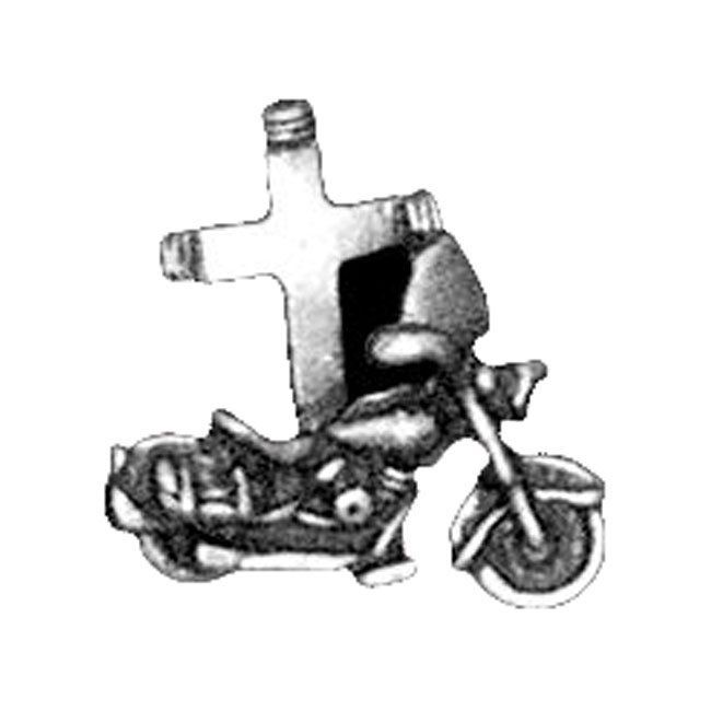 MOTOCYCLE WITH CROSS PINS