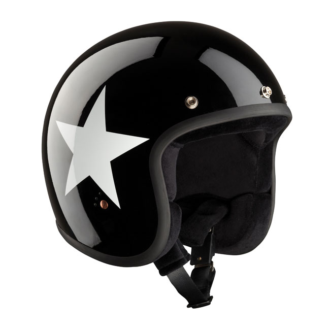 CASQUE BANDIT JET STAR BLACK/WHITE