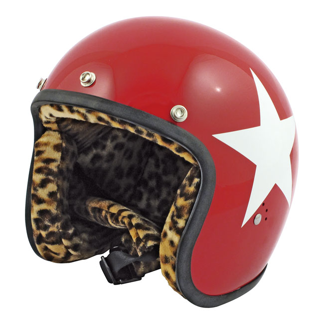 CASQUE BANDIT STAR, RED W/WHITE