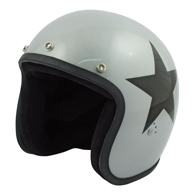 CASQUE BANDIT STAR JET SILVER/BLACK