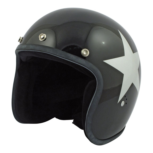 CASQUE BANDIT STAR JET BLACK/SILVER