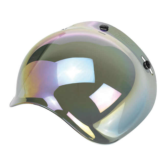 BILTWELL BUBBLE VISOR, RAINBOW MIRROR
