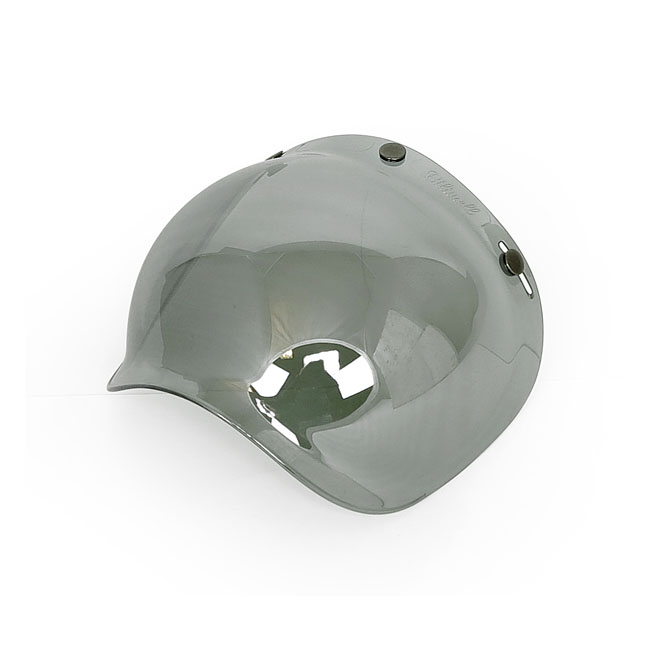 BILTWELL BUBBLE SHIELD CHROME MIRROR