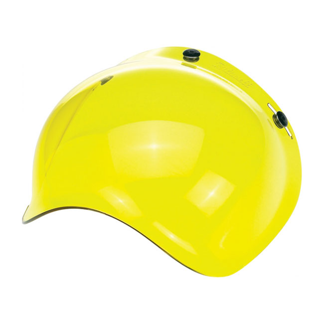 BILTWELL BUBBLE VISOR, YELLOW SOLID