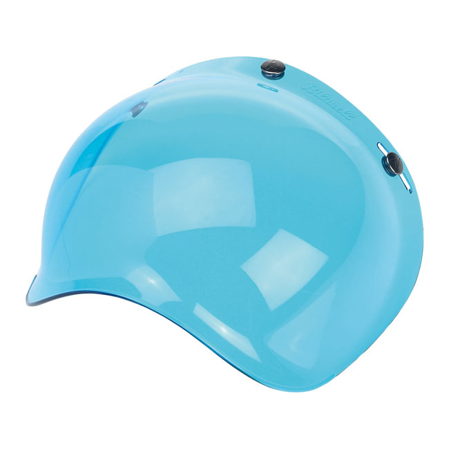 BILTWELL BUBBLE VISOR, BLUE SOLID