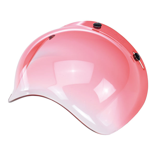 BILTWELL BUBBLE VISOR, RED GRADIENT