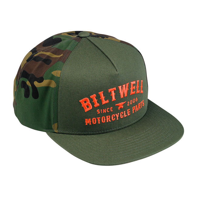 Biltwell Patrol trucker hat camo/orange