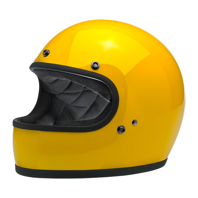 BILTWELL GRINGO FULL FACE HELMET SAFE-T YELLOW
