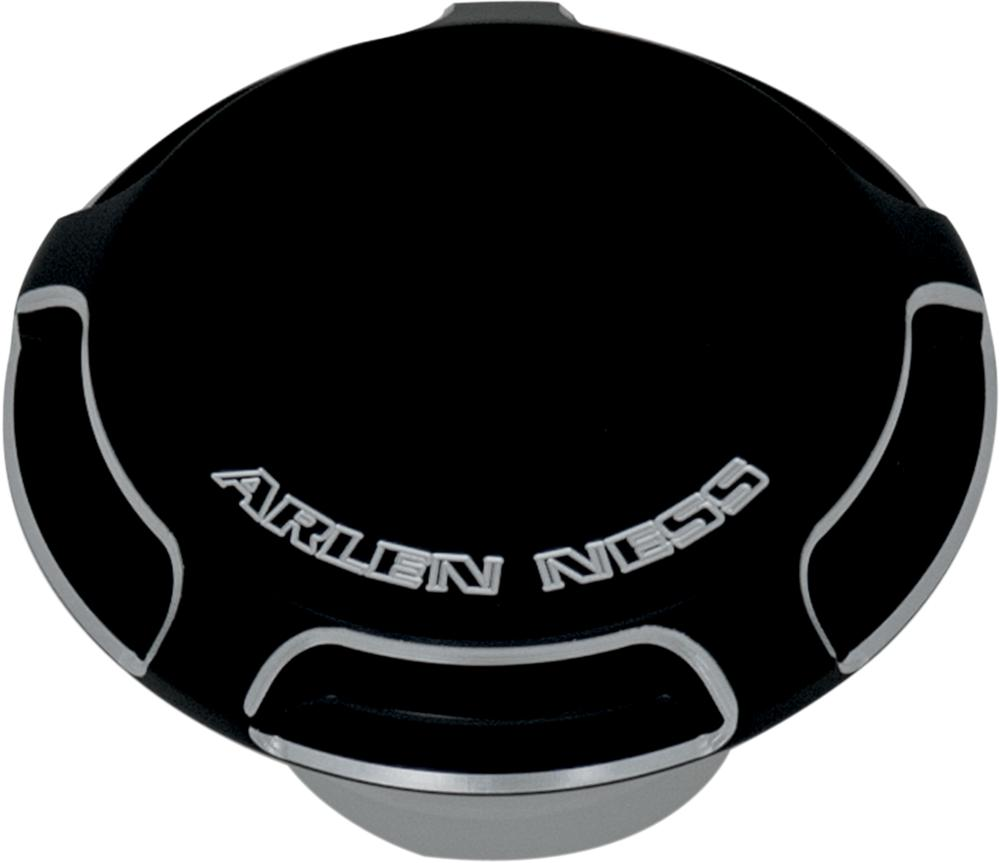 GAS CAP RATCHET STYLE VENTED BEVELED BLACK
