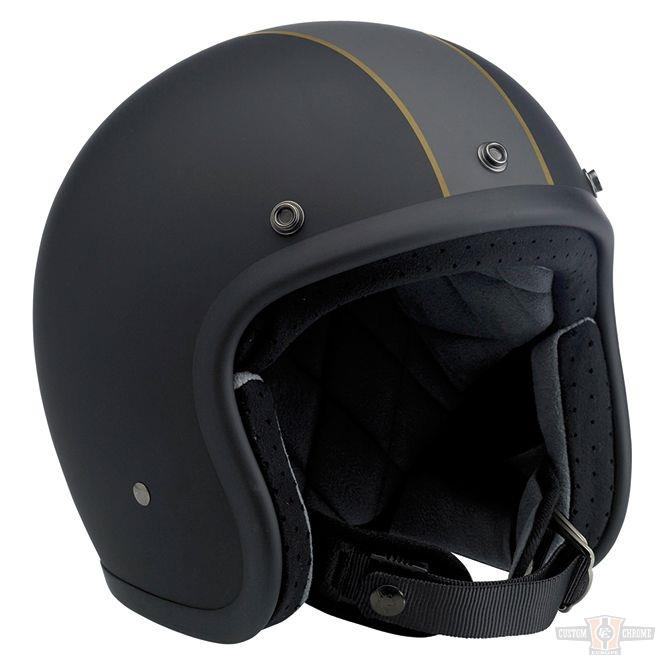 Biltwell Bonanza casque Limited Edition Racer Flat Black/Grey/Gold