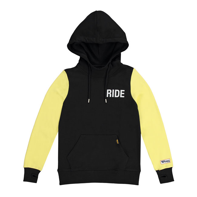 ROEG Summer hoodie black/yellow