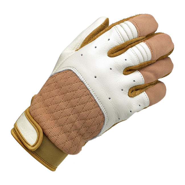 BILTWELL BANTAM GLOVES WHITE/TAN