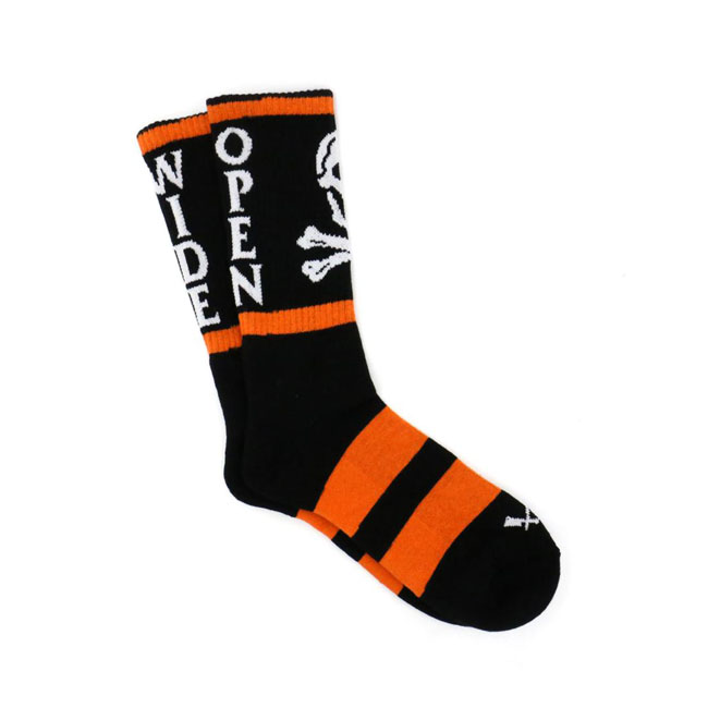 Butcher socks death sentence orange/black