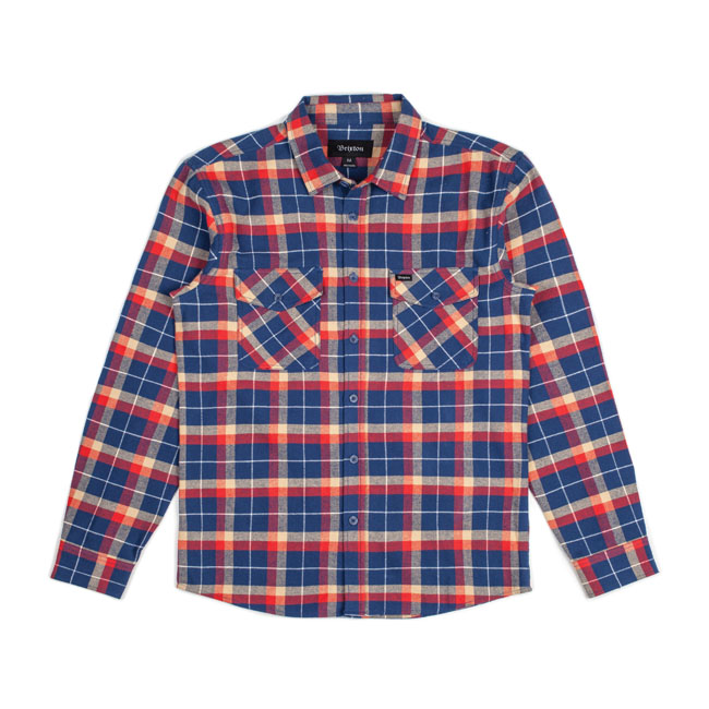 GRADY FLANNEL SHIRT DEEP BLUE